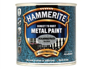 Hammerite HMMHFSG250 - Direct to Rust Hammered Finish Metal Paint Silver 250ml