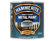 Hammerite HMMHFSG25L - Direct to Rust Hammered Finish Metal Paint Silver 2.5 Litre