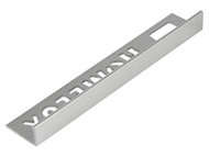 Homelux HOMHPJT10SI - Tile Trim Homelux Metal Straight Edge Silver Effect 10mm x 2.5m (Box 10)