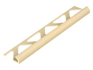 Homelux HOMHTRT6SCR - Tile Trim PVC Round Edge Soft Cream 6mm x 2.44m (Box 10)