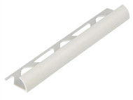 Homelux HOMHTRT9WH - Tile Trim PVC Round Edge White 9mm x 2.44m (Box 10)