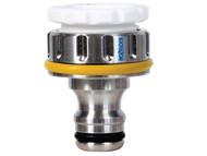 Hozelock HOZ2041 - 2041 Pro Metal Threaded Tap Connector 12.5 - 19mm (1/2 - 3/4in)