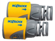 Hozelock HOZ2050AV - 2050 Hose End Connector for 12.5 - 15mm (1/2 - 5/8in) Hose Twin Pack