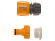 Hozelock HOZ2175AV - 2175 Threaded Tap & Hose End Connector (Twin Pack) 1/2 - 3/4in BSP