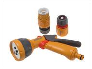 Hozelock HOZ2347 - 2347 Multi-Pattern Spray Gun Starter Set with Fittings