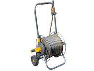 Hozelock HOZ2436 - 2436 60m Metal Pro Hose Cart & 30 Metres of 12.5mm Hose