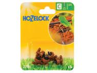 Hozelock HOZ2784 - In Line Pressure Dripper 4mm (5 Pack)