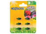 Hozelock HOZ2790 - Micro Jet 90 Degree 4mm/13mm (6 Pack)
