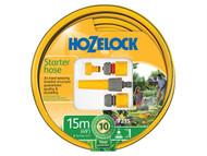 Hozelock HOZ72159000 - Starter Hose Starter Set 15 Metre 12.5mm (1/2in) Diameter