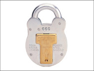 Henry Squire HSQ660KA - 660KA Old English Padlock with Steel Case 64mm Keyed