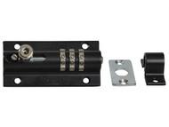 Henry Squire HSQCOMBI3 - 3-Wheel Re-Codeable CombiBolt Lock Black
