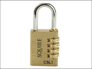 Henry Squire HSQCSL1 - CSL1 Brass Combination Padlock 40mm