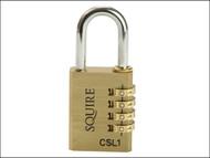 Henry Squire HSQCSL1 - CSL1 Brass Combination Padlock 40mm