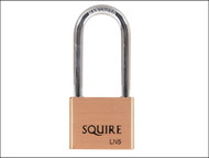 Henry Squire HSQLN525 - LN5/2.5 Lion Brass Padlock 5-Pin 50mm - 65mm Long Shackle
