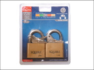 Henry Squire HSQLN5T - LN5T Lion Brass Padlocks 5-Pin 50mm Twin Pack