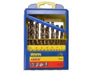 IRWIN IRW10502233 - Turbo Max HSS Drill Bit Set of 19