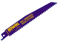 IRWIN IRW10504155 - 656R 150mm Sabre Saw Blade Nail Embedded Wood Cut Pack of 5