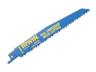 IRWIN IRW10504158 - Sabre Saw Blade 956R 225mm Nail Embeded Wood Pack of 5