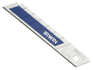 IRWIN IRW10507103 - Snap-Off Blades 18mm Blue Pack of 8