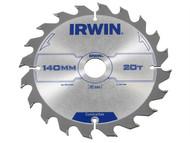 IRWIN IRW1897088 - Circular Saw Blade 140 x 20mm x 20T ATB
