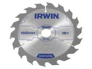 IRWIN IRW1897089 - Circular Saw Blade 150 x 20mm x 18T ATB