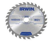 IRWIN IRW1897192 - Circular Saw Blade 160 x 20mm x 30T ATB