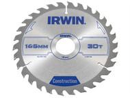 IRWIN IRW1897194 - Circular Saw Blade 165 x 30mm x 30T ATB