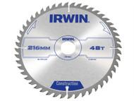 IRWIN IRW1897209 - Circular Saw Blade 216 x 30mm x 48T ATB
