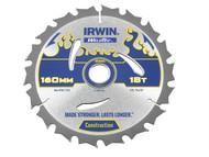 IRWIN IRW1897361 - Weldtec Circular Saw Blade 160 x 20mm x 18T ATB