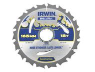 IRWIN IRW1897364 - Weldtec Circular Saw Blade 165 x 30mm x 18T ATB