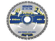 IRWIN IRW1897386 - Weldtec Circular Saw Blade 210 x 30mm x 40T ATB