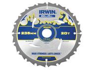 IRWIN IRW1897387 - Weldtec Circular Saw Blade 235 x 30mm x 20T ATB