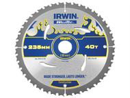 IRWIN IRW1897388 - Weldtec Circular Saw Blade 235 x 30mm x 40T ATB