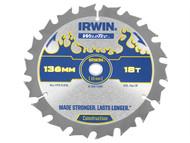 IRWIN IRW1897390 - Weldtec Cordless Circular Saw Blade 136 x 10mm x 18T ATB C