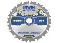 IRWIN IRW1897392 - Weldtec Cordless Circular Saw Blade 165 x 20mm x 18T ATB C