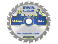 IRWIN IRW1897393 - Weldtec Cordless Circular Saw Blade 165 x 20mm x 24T ATB C