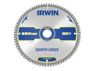 IRWIN IRW1897427 - Construction Circular Saw Blade 250 x 30mm x 80T ATB/Neg M