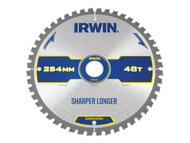 IRWIN IRW1897428 - Construction Circular Saw Blade 254 x 30mm x 48T ATB/Neg M