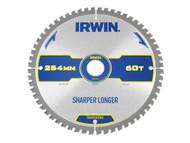 IRWIN IRW1897429 - Construction Circular Saw Blade 254 x 30mm x 60T ATB/Neg M