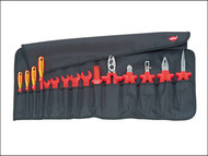 Knipex KPX989913 - VDE Certified Tool Roll 15 Piece Set in Bag