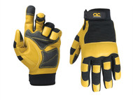 Kuny's KUN275L - Hybrid-275 Top Grain Leather Neoprene Cuff Gloves Large (Size 10)