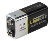 Lighthouse L/HBAT9V - Alkaline Batteries 9v LR61 1100mAh Pack of 1