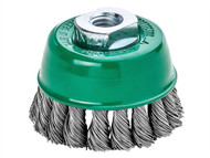 Lessmann LES482817 - Knot Cup Brush 65mm M14 x 20 x 0.50 Stainless Steel Wire