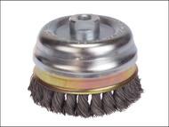 Lessmann LES484217 - Knot Cup Brush 80mm x M14 x 0.50 Steel Wire*