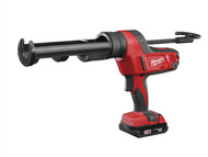 Milwaukee MILC18CG3102 - C18 PCG/310C Caulking Gun 310ml Cartridge 18 Volt 1 x 2.0Ah Li-Ion