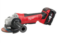 Milwaukee MILHD18AG4 - HD18 AG-402 115mm Angle Grinder 18 Volt 2 x 4.0Ah Li-Ion