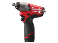 Milwaukee MILM12CIW2F - M12 CIW12-202C Fuel Compact 1/2in Impact Wrench 12 Volt 2 x 2.0Ah Li-Ion