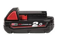 Milwaukee MILM18B2 - M18 B2 REDLITHIUM-ION Slide Battery Pack 18 Volt 2.0Ah Li-Ion