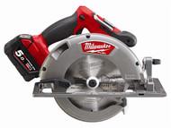 Milwaukee MILM18CCS665 - M18 CCS66-502 FUEL Circular Saw 18 Volt 2 x 5.0Ah Li-Ion