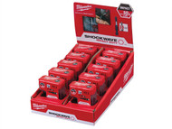 Milwaukee MILTICTACMAG - Shockwave Screwdriver Bit PZ2 25mm x 15 + Magnetic Holder Counter Display of 10